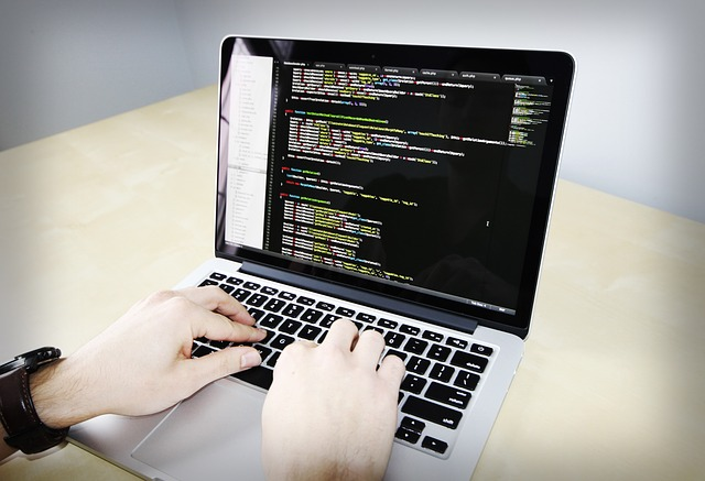 code on a computer